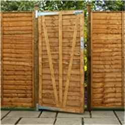 Pressure Treated 6ft High (1.829m) Lap Panel Overlap Single Gate 3ft Wide