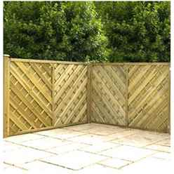 4FT Pressure Treated Chevron Weave Fencing Panels- 1 Panel Only + Free Delivery*