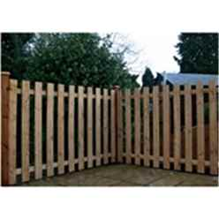 4FT Pressure Treated Palisade Square Top Fencing Panels - 1 Panel Only + Free Delivery*