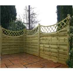 5FT Pressure Treated Concave Horizontal Weave + Trellis - 1 Panel Only + Free Delivery*