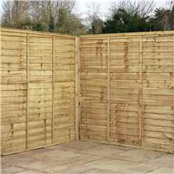 6FT Pressure Lap Panel Overlap Fencing Panels - 1 Panel Only + Free Delivery*