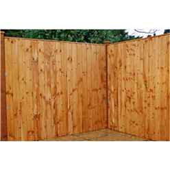 6FT Vertical Feather Edge Fencing (Flat Top) - 1 Panel Only (Min Order 3 Panels) + Free Delivery*