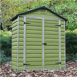 INSTALLED 3ft x 6ft Plastic Apex Shed (1.02 x 1.85m) *INCLUDES INSTALLATION*