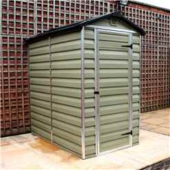 INSTALLED 6ft x 4ft Plastic Apex Shed (1.86m x 1.25m) *INCLUDES INSTALLATION*