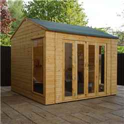 INSTALLED 10 x 8 Vermont Reverse Tongue and Groove Summerhouse (12mm Tongue and Groove Floor) INCLUDES INSTALLATION