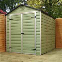 INSTALLED 12ft x 6ft Plastic Apex Shed (3.65m x 1.88m) INCLUDES INSTALLATION*