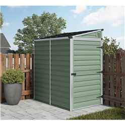 INSTALLED 6ft x 4ft Plastic Pent Shed (1.8m x 1.2m) *INCLUDES INSTALLATION*