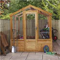 6ft x 4ft (1.9m x 1.2m) Premier Styrene Glazed Tongue and Groove Greenhouse (No Floor)
