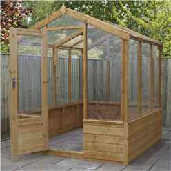 INSTALLED 6ft x 6ft (1.8m x 1.9m) Premier Styrene Glazed Tongue and Groove Greenhouse (No Floor) INCLUDES INSTALLATION