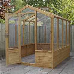 *NEW PRODUCT DUE MID MAY* INSTALLED 6 x 8 Deluxe Glazed Tongue and Groove Greenhouse (No Floor) INCLUDES INSTALLATION