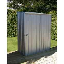 INSTALLED 5ft x 3ft Space Saver Zinc Metal Shed (1.52m x 0.78m) INCLUDES INSTALLATION
