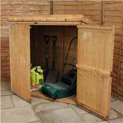 5 x 3 Wooden Tongue and Groove Pent Mower Shed with Double Doors