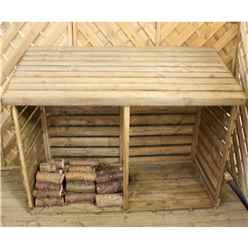 """INSTALLED 3 x 6 (0.8m x 1.9m) Pressure Treated Double Log Store (2'8"""" x 6'4"""") INCLUDES INSTALLATION"""