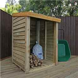 3 x 3 (1m x 1m) Pressure Treated Overlap Storage Unit (3'3 x 3'3)