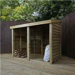 3 x 6 (1m x 1.9m) Pressure Treated Overlap Double Storage Unit (3'3 x 6'2)