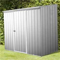INSTALLED 8ft x 5ft Space Saver Zinc Metal Shed (2.26m x 1.52m) INCLUDES INSTALLATION
