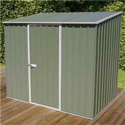 INSTALLED 8ft x 5ft Space Saver Pale Eucalyptus Metal Shed (2.26m x 1.52m) INCLUDES INSTALLATION