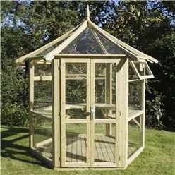 "8 x 9 Superior Pressure Treated Glass Greenhouse (8'1"" x 9'3"")"