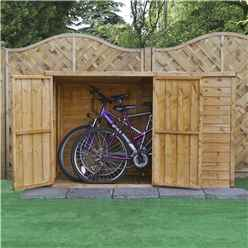"INSTALLED 3ft x 6ft (0.98m x 1.95m) Overlap Pent Bike Store (6'5"" x 3'3"") INCLUDES INSTALLATION"