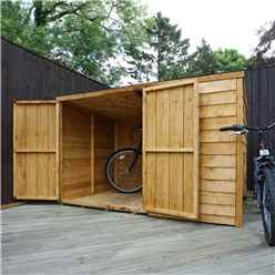 "INSTALLED 4ft x 6ft (1.24m x 1.95m) Overlap Pent Bike Store (4'1"" x 6'5"") INCLUDES INSTALLATION"