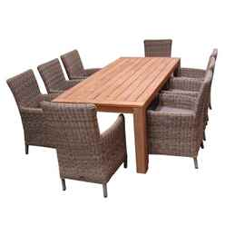 8 Seater Highclere Dining Set with Highclere FSC Teak and 8 Modena Carver Chairs - Free Next Working Day Delivery (Mon-Fri)