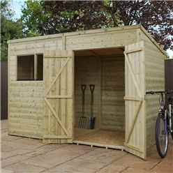 INSTALLED 10 x 6 (3.05m x 1.70m) Oxford Pressure Treated Shiplap Pent Shed - INCLUDES INSTALLATION