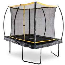 INSTALLED 7ft x 10ft Rectangular Elite Trampoline with Enclosure Package + FREE Ladder