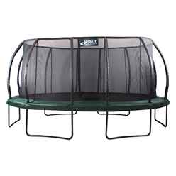 INSTALLED 14ft x 17ft DELUXE Jump Capsule MK II Trampoline with Enclosure Package + FREE Ladder