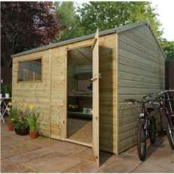 10 x 8 Pressure Treated Tongue and Groove Reverse Apex Shed