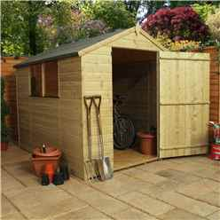 INSTALLED 8 x 6 (2.40m x 1.80m) Pressure Treated Tongue and Groove Apex Shed - INCLUDES INSTALLATION