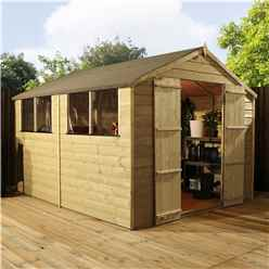 10 x 8 (3.00m x 2.36m) Pressure Treated Tongue and Groove Apex Shed