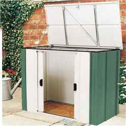 4ft x 2ft Rowlinson Green Metal Storette (1390mm x 770mm) INCLUDES FLOOR