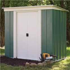 6ft x 4ft Rowlinson Green Metal Pent Shed (1.94m x 1.19m) INCLUDES FLOOR