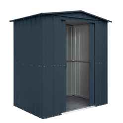 **PRE-ORDER JUNE 25TH** 6ft x 4ft Anthracite Grey Apex Metal Shed (1.71m x 1.13m)