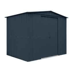 **PRE-ORDER DUE BACK IN STOCK: 25TH JUNE 2018** 8ft x 5ft Anthracite Grey Apex Metal Shed (2.34m x 1.44m)