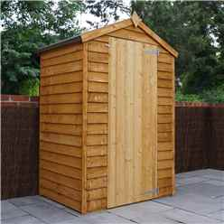 3ft x 4ft Windowless Super Saver Overlap Apex Shed With Single Door (10mm Solid OSB Floor)