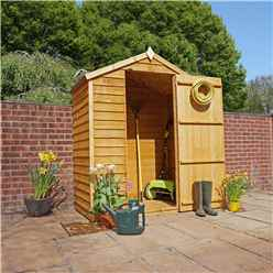 INSTALLED 3ft x 5ft Windowless Super Saver Overlap Apex Shed With Single Door (10mm Solid OSB Floor) - INCLUDES INSTALLATION