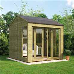 8ft x 8ft Pressure Treated Cannes Tongue and Groove Summerhouse