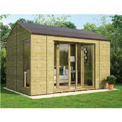8ft x 12ft Pressure Treated Cannes Tongue and Groove Summerhouse