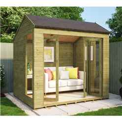 6ft x 8ft Pressure Treated Monte Carlo Tongue and Groove Summerhouse