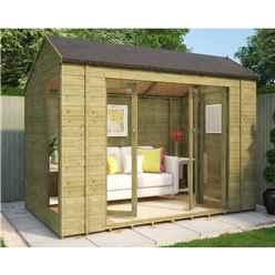 6ft x 10ft Pressure Treated Monte Carlo Tongue and Groove Summerhouse