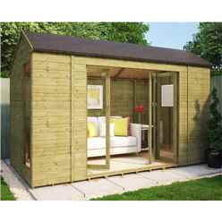 6ft x 12ft Pressure Treated Monte Carlo Tongue and Groove Summerhouse