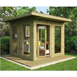 10ft x 10ft Pressure Treated Lounge Contemporary Summerhouse