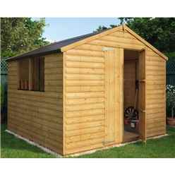 8ft x 8ft Loglap Shed with 2 Windows and Double Doors