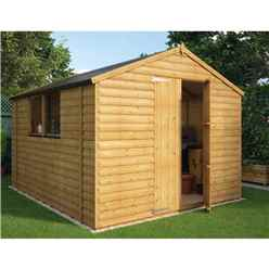 10ft x 8ft Loglap Shed with 2 Windows and Double Doors