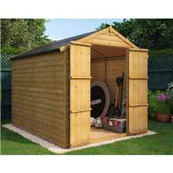 8ft x 6ft Loglap Windowless Shed with Double Doors