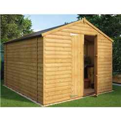 10ft x 8ft Loglap Windowless Shed With Double Doors