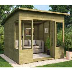 8ft x 8ft Pressure Treated Verano Tongue and Groove Summerhouse