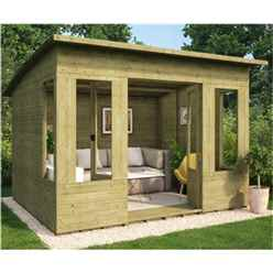 8ft x 10ft Pressure Treated Verano Tongue and Groove Summerhouse
