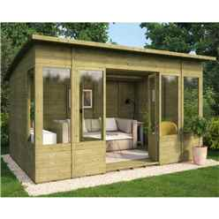 8ft x 12ft Pressure Treated Verano Tongue and Groove Summerhouse